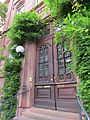 Door of José Rizal historical site at Bergheimer Straße 20, Heidelberg, Germany.jpg