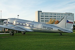 Pan American-Grace Airways - This Douglas DC3-229 was delivered to Panagra in 1937 as NC18119. It is now a museum aircraft, in period livery of Czech Airlines.