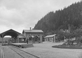 Trondhjem–Støren Line - Støren Station, the southern terminus, in 1880-90.