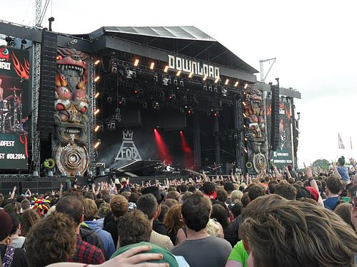 Fall Out Boy's set on the Stephen Sutton Main Stage on Saturday at Download Festival 2014 Download2014.jpg