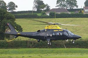 Police aviation in the United Kingdom - A demonstration by Dyfed-Powys Police Air Support Unit helicopter in 2008.