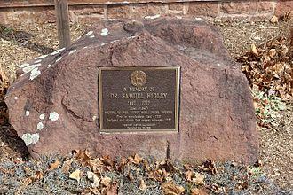 Samuel Higley - Dr. Samuel Higley memorial, in Simsbury, Connecticut