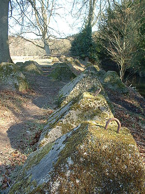 Dragon's teeth (fortification) - Image: Dragons Teeth at Waverley Abbey