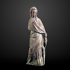 Draped woman-CA 2155