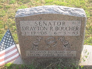 Drayton Boucher - Drayton Boucher tombstone at Springhill Cemetery