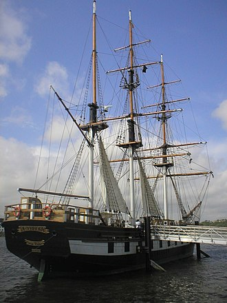 New Ross - Dunbrody Ship—a full-scale replica of the original 19th century vessel.