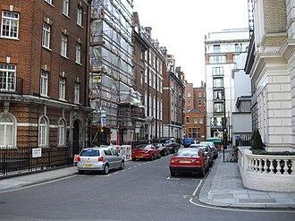 François Benjamin Courvoisier - Location of the crime: Norfolk Street, now Dunraven Street, Mayfair.