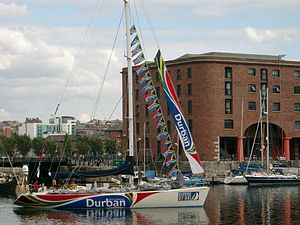 Durban yacht in Albert Dock.JPG