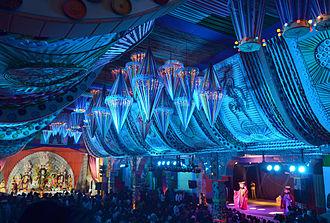 Pandal - Durga Puja Pandal with theatre performances, Matri Mandir, Safdarjung Enclave, Delhi, 2014
