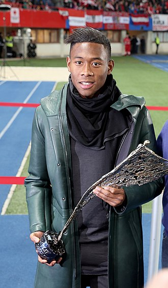 David Alaba - Alaba with the Austrian Sports Personality of the Year award in 2014