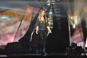 Netherlands in the Eurovision Song Contest 2013 - Anouk at the first semi-final dress rehearsal in Malmö.