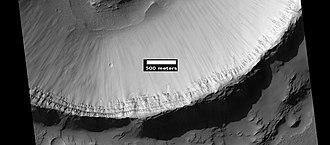 Daedalia Planum - Image: ESP 035848 1510memnoniacraterla yers