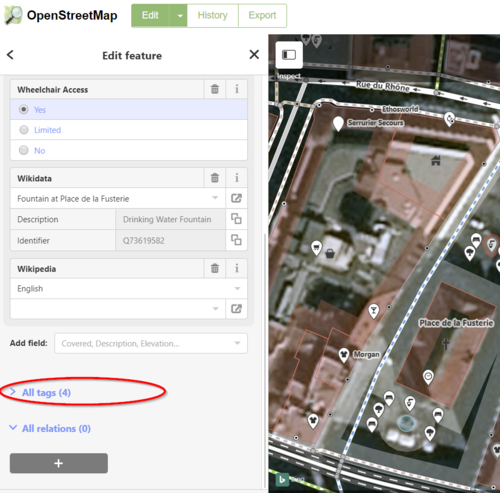 EWP Instructions OSM Finding the tag fields