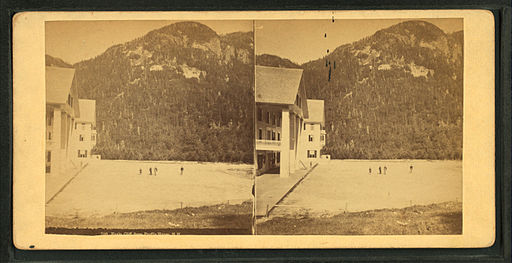 Eagle Cliff, from Profile House, N.H, from Robert N. Dennis collection of stereoscopic views