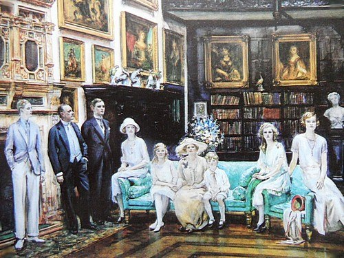 Earl and Countess Beauchamp with their Family at Madresfield on the occasion of Viscount Elmley's coming of age