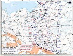 Przesunięcie frontu wschodniego w wyniku bitwy pod Gorlicami