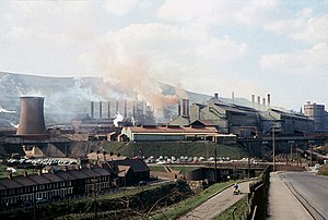 Ebbw Vale - Ebbw Vale Steelworks in 1969, by this time under the control of British Steel Corporation