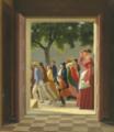 Eckersberg, CW - Udsigt gennem en dør til løbende figurer - 1845 (foto).png
