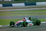 Eddie Irivne - Jordan 194 at the 1994 British Grand Prix (32162302350).jpg