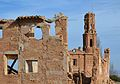 Edifici i campanar de l'església de sant Agustí, Belchit.JPG