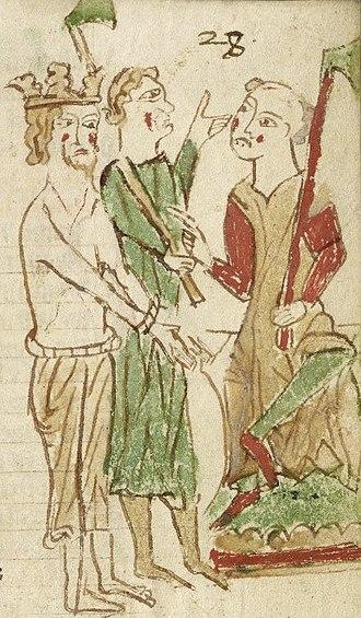 Ubba - This manuscript preserves a copy of the twelfth-century La vie seint Edmund le rei.