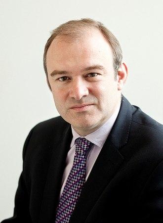 Secretary of State for Energy and Climate Change - Image: Edward Davey