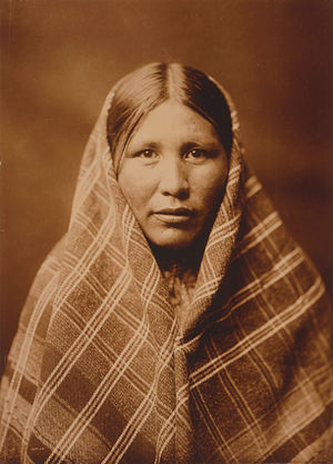 Nespelem people - Nespelem woman, photo by Curtis, 1911