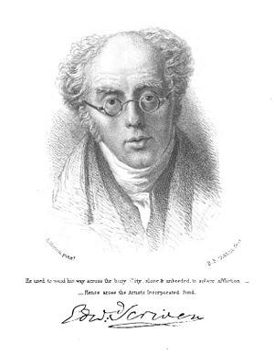 Edward Scriven - Portrait of Edward Scriven by Benjamin Phelps Gibbon, engraver; after original by Andrew Morton