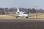 Edwards Coaches (VH-KXL) Cessna 525 CitationJet taxiing at Wagga Wagga Airport.jpg