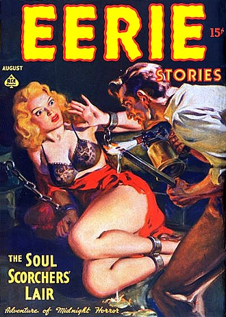 Horror fiction magazine - Image: Eerie Stories Vol 1No 1