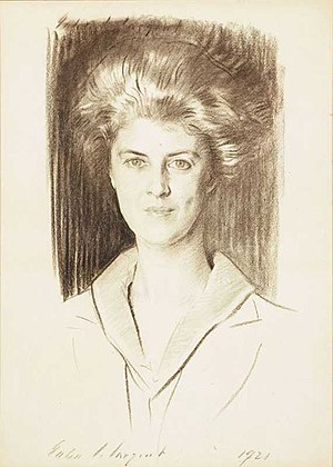 Eleonora Sears -  Portrait of Sears by John Singer Sargent (1921)