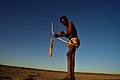 Elia Fester, Kalahari Khomani San Bushman, Boesmansrus camp, Northern Cape, South Africa (19919703483).jpg