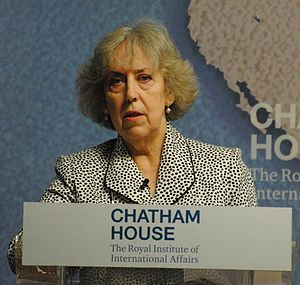 Eliza Manningham-Buller - Manningham-Buller speaking at Chatham House, May 2016