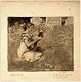 Elizabeth Shippen Green, Aletha was not afraid of the old graveyard, 1909.jpg