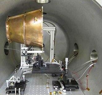 RF resonant cavity thruster - Prototype resonant cavity thruster built by NASA's Eagleworks Laboratories