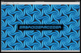Embroidermodder - Image: Embroidermodder 2 start screen 2013 07 26