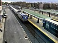 Empire Service train arriving at Albany Rensselaer station, April 2018.jpg