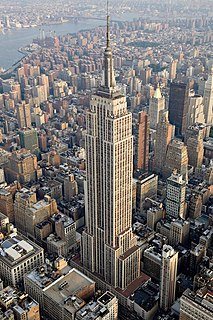 Empire State Building Skyscraper in Midtown Manhattan, New York City