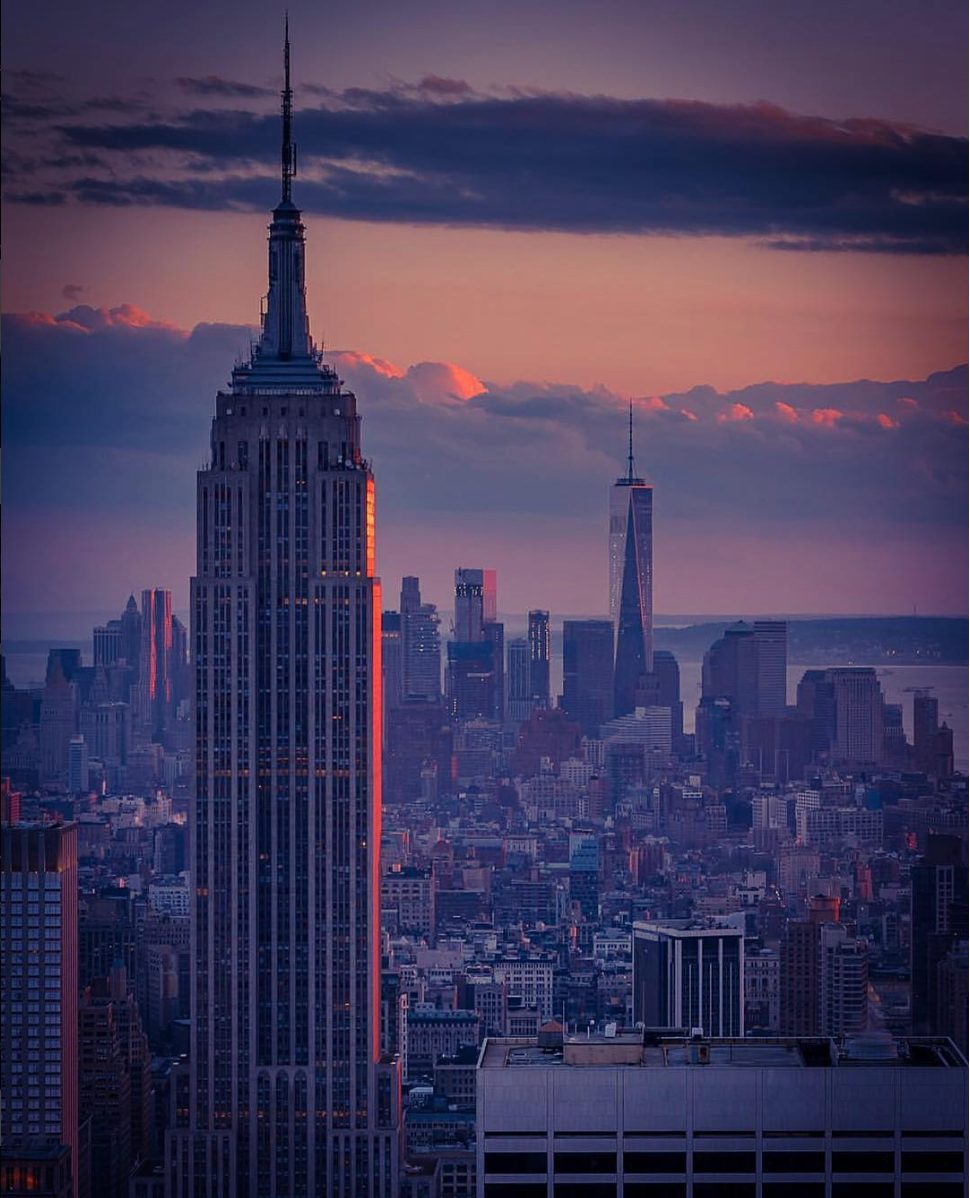 Empire State Building with 1WTC in background