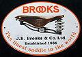 Enamel advertising sign, JB Brooks & Co Ltd, Saddle.JPG