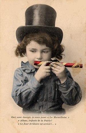 Eunuch flute - French mirliton circa 1910