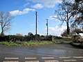Entrance to Haughton Grange at road junction - geograph.org.uk - 1566699.jpg