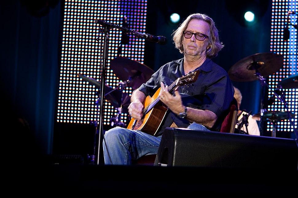 Eric Clapton live on acoustic guitar