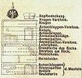 Erklärung der Farbdarstellung der Uniformen, Pickelhaube, Achselklappe, Die Uniformen der deutschen Armee, Ruhl, Tafel 3.jpg
