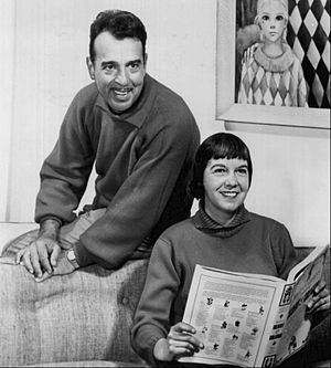 Tennessee Ernie Ford - Ernie and Betty Ford at home in 1962.
