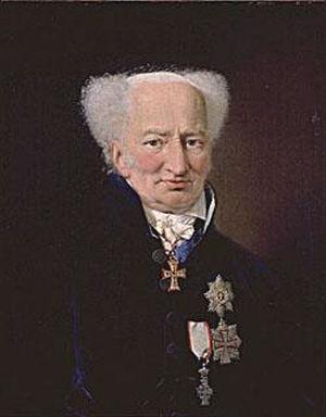 Ernst Heinrich von Schimmelmann - Ernst Schimmelmann portrayed by Christian Albrecht Jensen (1827)