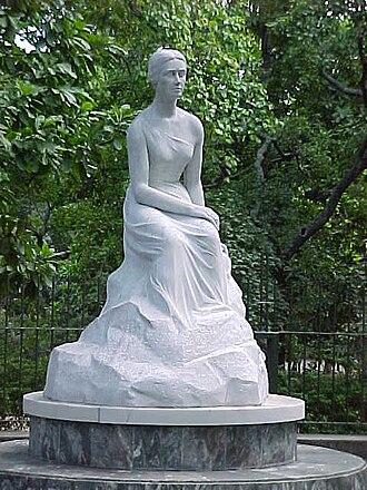 Los Caobos Park - Image: Escultura de Teresa de La Parra en Parque Los Caobos Caracas Venezuela
