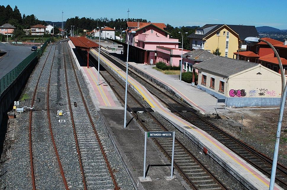 Estación Betanzos Infesta vista xeral