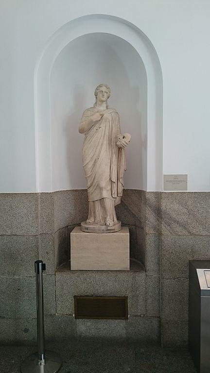 File estatua de melp mene en el museo del prado 16 de for Lamucca calle del prado 16 madrid