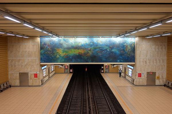 Étangs Noirs/Zwarte Vijvers metro station